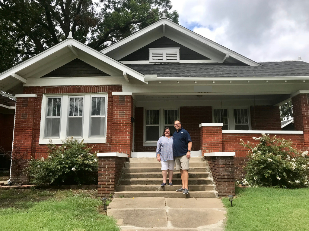 Outside our new house in Pawhuska, OK, the day we moved in.