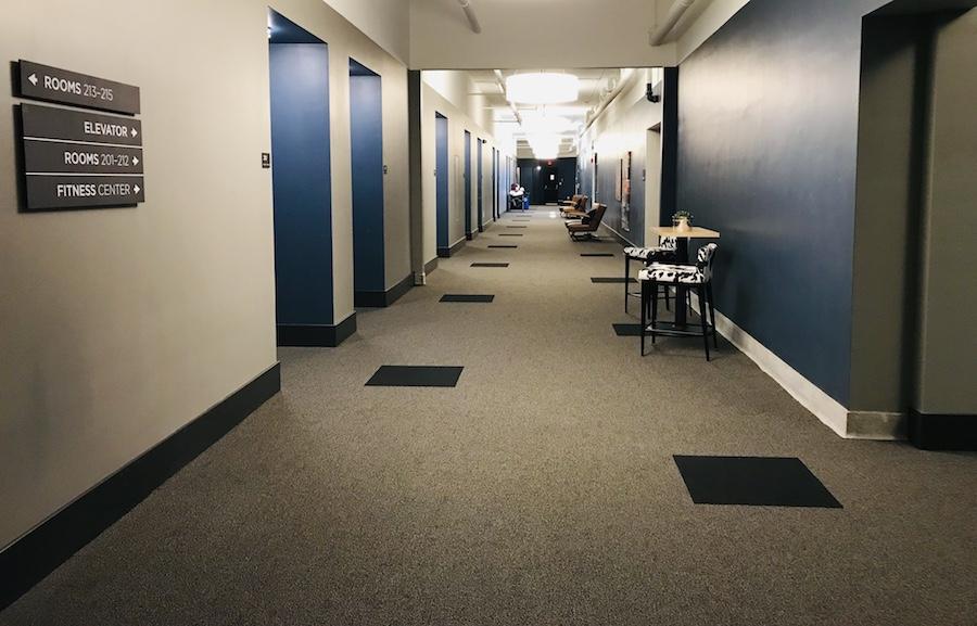 Hotel Grinnell Iowa hallway