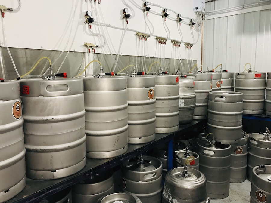 Pivo Brewery kegs for taproom