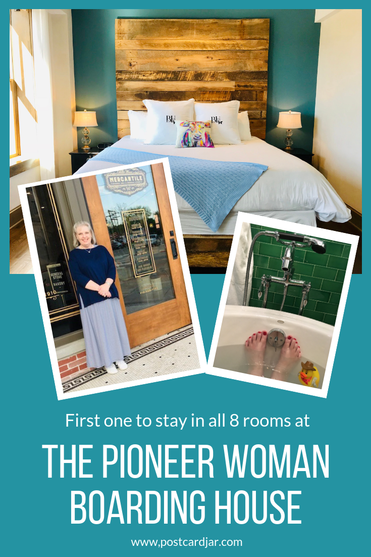 See how this woman was able to book reservations and stay in all 8 cowboy luxury themed rooms at The Pioneer Woman Boarding House. #thepioneerwoman #pioneerwomanboardinghouse #pioneerwomanhotel #pawhuska