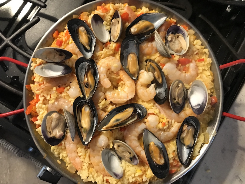 Our paella is almost done!