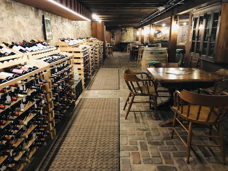 K&B Emporium offers shopping, food, and this incredible wine cellar.