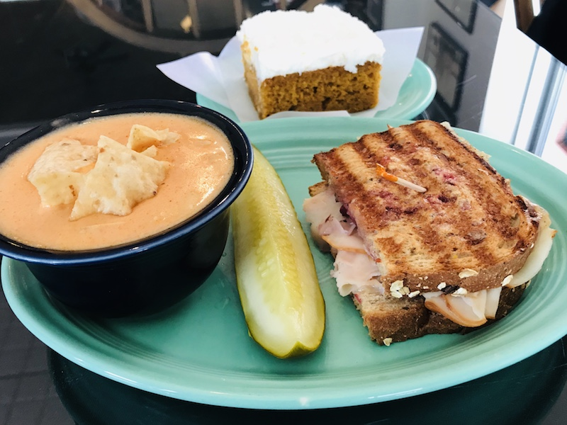 Fall is a great time for lunch at Starboard Market with warm soups and sandwiches and their pumpkin bar.