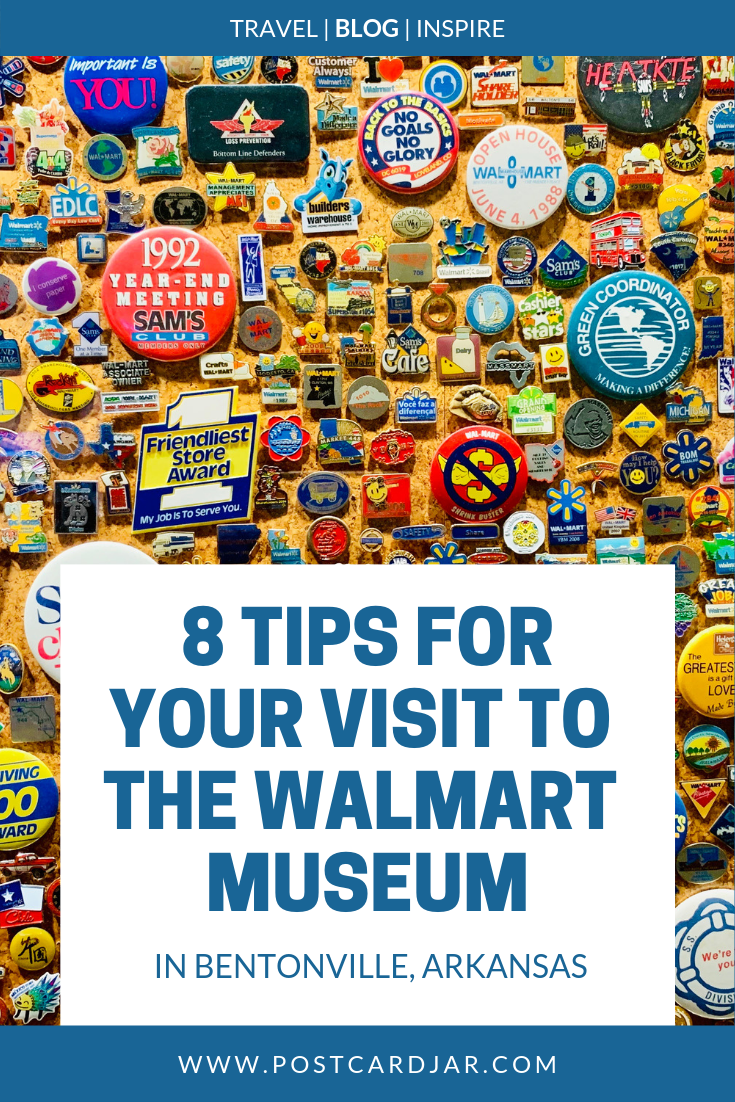 Visiting Bentonville, Arkansas, sometime soon? Here are eight tips to help you make the most of your visit to The Walmart Museum in Bentonville, Arkansas. Whether you're single, traveling with kids, or are a couple on a weekend getaway,  these tips will help make your visit to The Walmart Museum memorable. It is a must see for Walmart shoppers. #thewalmartmuseum #walmart #bentonville #arkansas #walmartshoppers