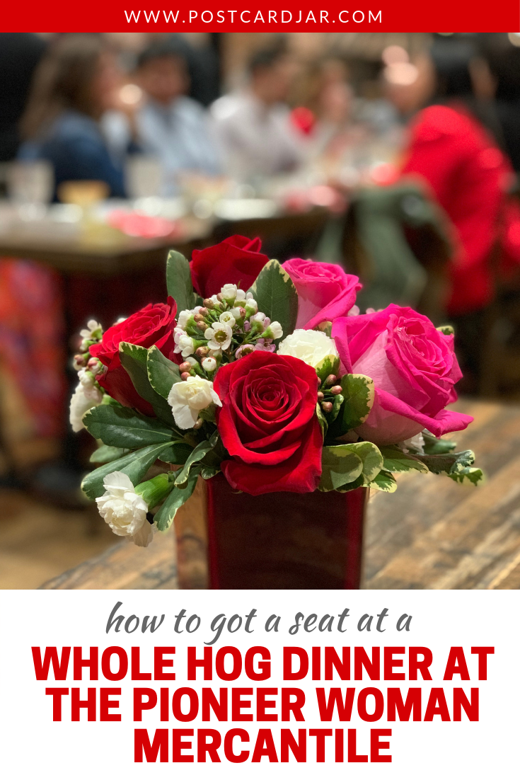 We were so honored to receive an invitation from The Pioneer Woman Ree Drummond herself to the first ever whole hog dinner at The Pioneer Woman Mercantile in Pawhuska, Oklahoma. Read all about how we were asked to attend and what made this Valentine's Day dinner so special. #thepioneerwoman #pawhuska #pioneerwomanmercantile