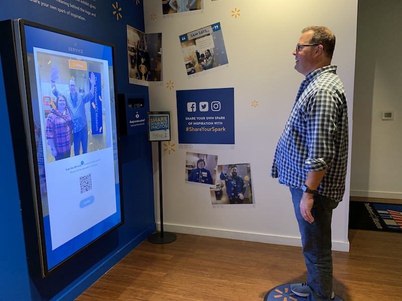 photo booth at Walmart Museum