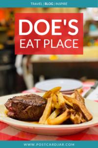 Doe's Eat Place Pinterest