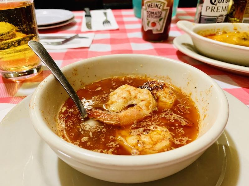 Doe's Eat Place boiled shrimp