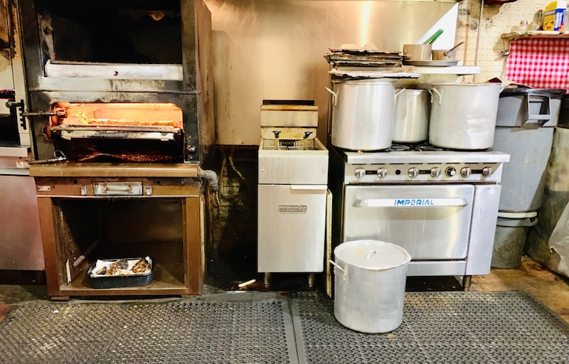 Doe's Eat Place kitchen broiler