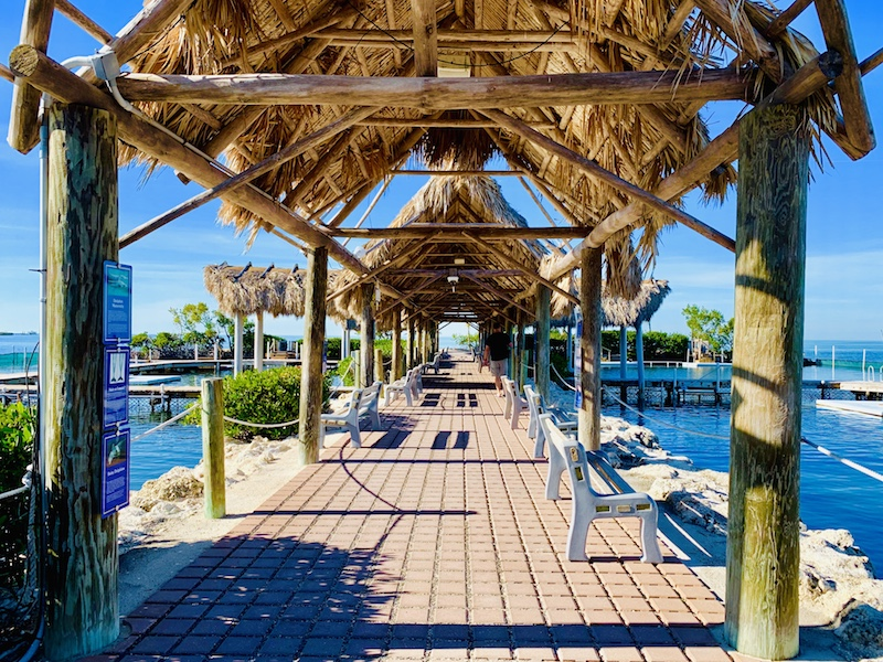dolphin research center walkway
