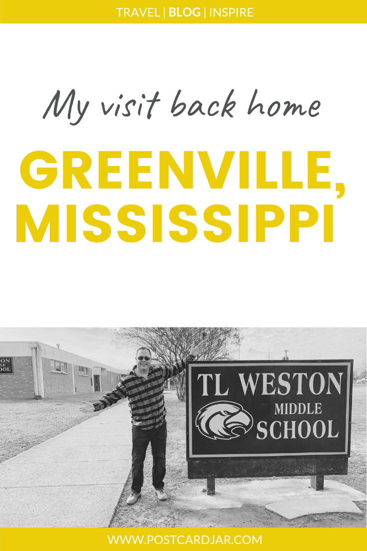 Greenville, Mississippi, was Steve's home when he started teaching. The seat of Washington County, it is on one end of one of the larger bridges that crosses the river. The people are friendly, and you can find great tamales there. #Mississippi #Greenville #River #Levee