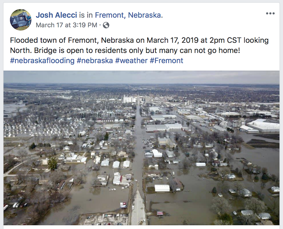 Nebraska flood Fremont