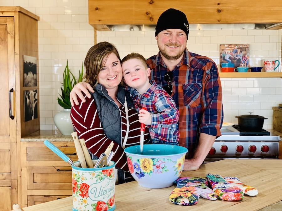 Lodge at Ree Drummond's Ranch Family in kitchen