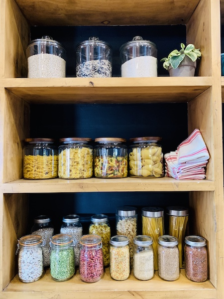 Lodge at Ree Drummond's Ranch pantry dry goods