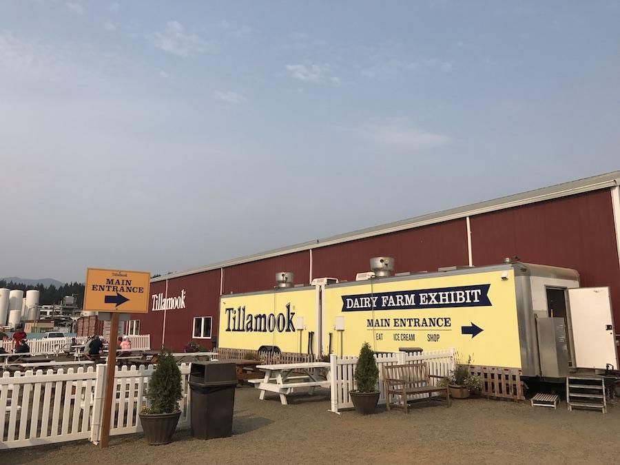 Tillamook Creamery parking lot