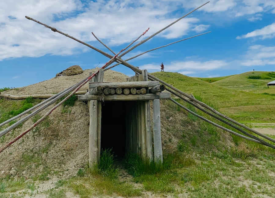earth lodge in North Dakota