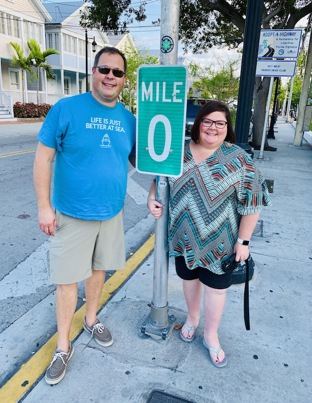 Mile marker 0 in Key West