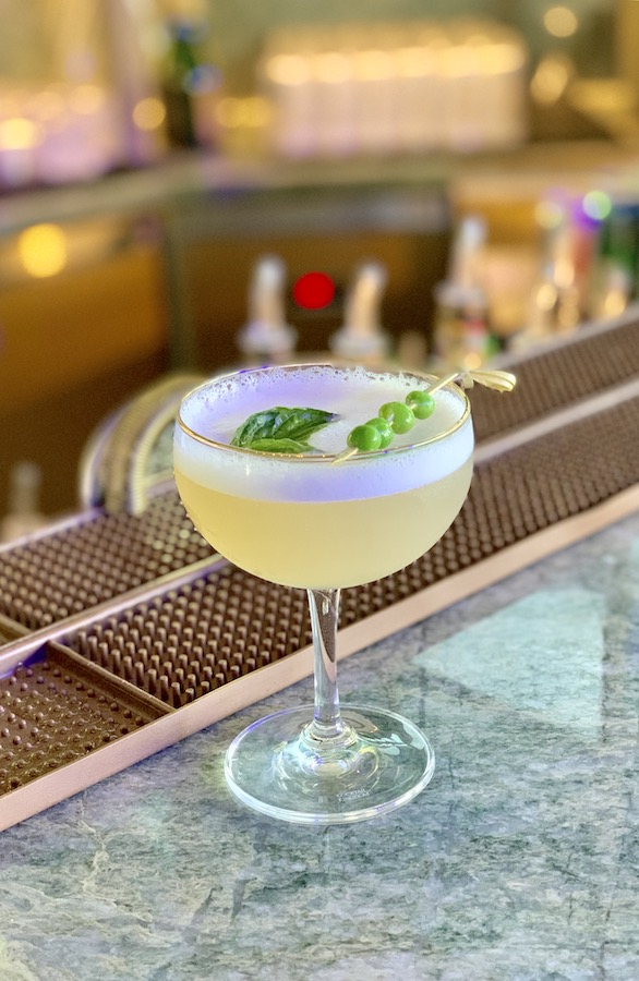 Celebrity Edge Bars Eden Bar Pea Cocktail