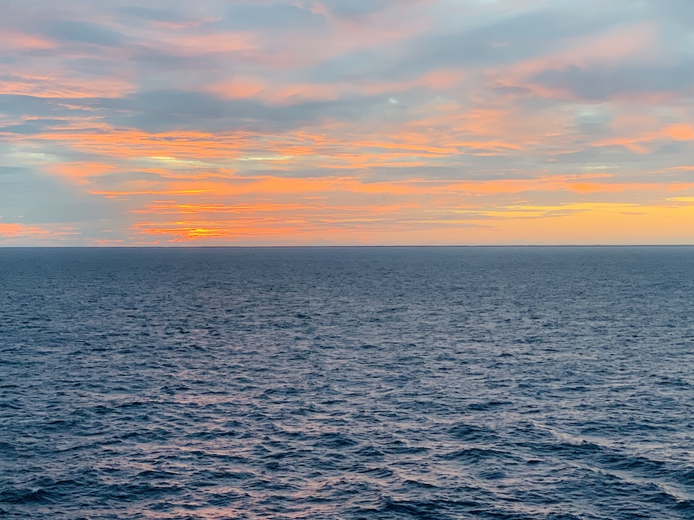 Sunset from the Celebrity Edge