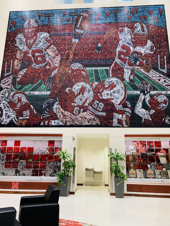 Memorial Stadium tour, Lincoln Traditions Lobby mural