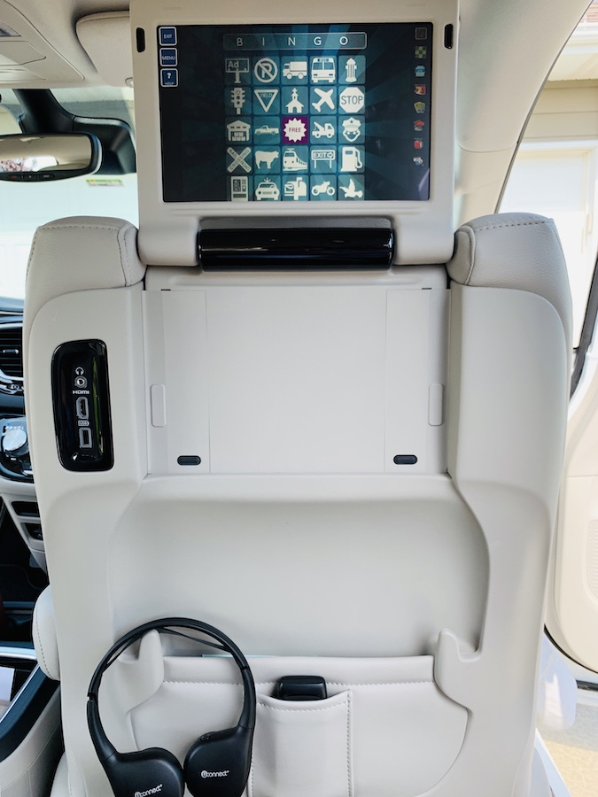 Vehicle for travel TV screen
