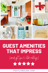 Home share guest amenities that impress
