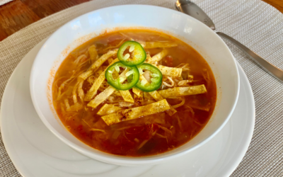 A Noom nerd's low-calorie chicken tortilla soup recipe