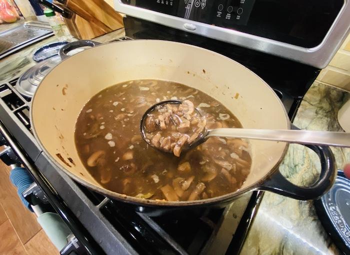 Serving up mushroom soup