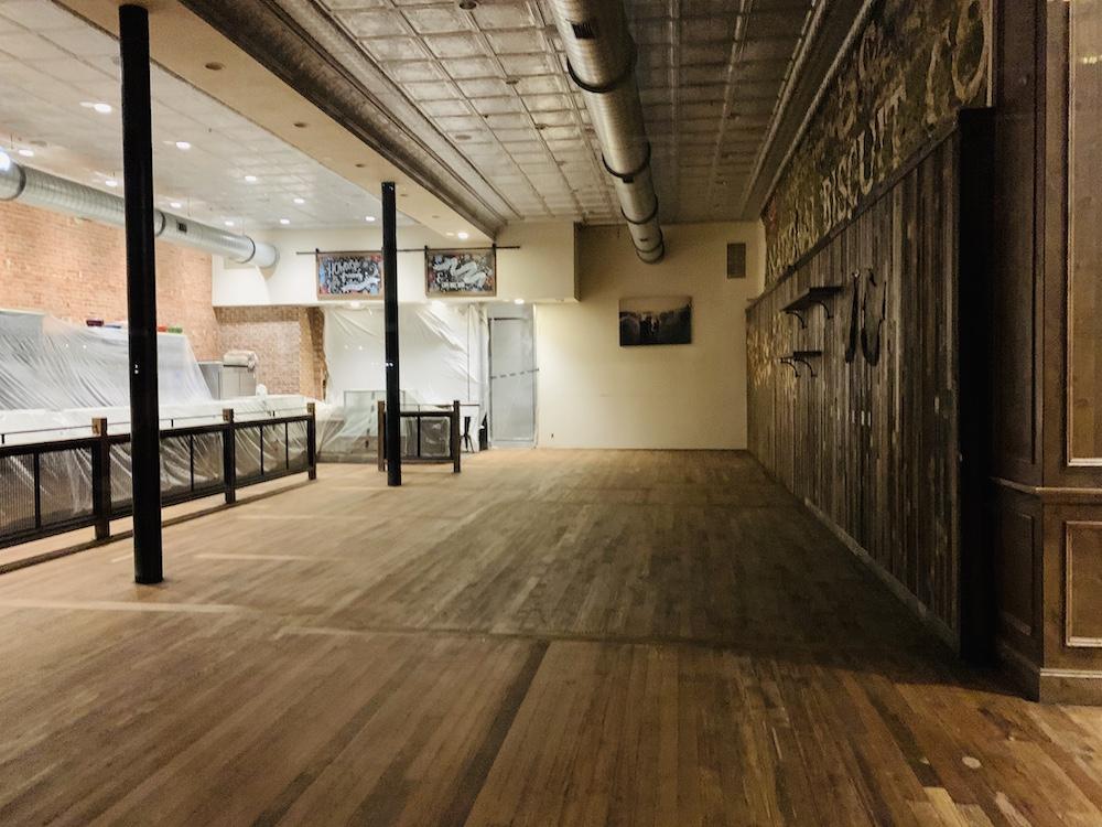 Pioneer Woman Mercantile floor refinishing