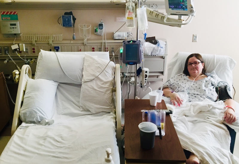 Ann in hospital