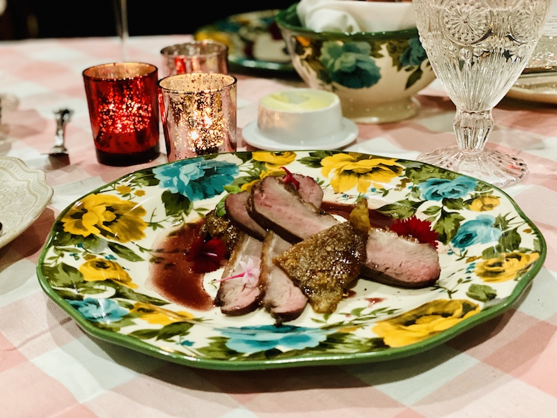 Pioneer Woman Valentines Weekend duck plate