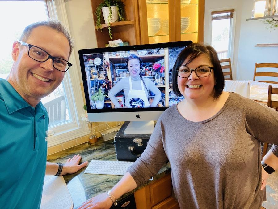 Ann and Steve with Chef Ana fridge class