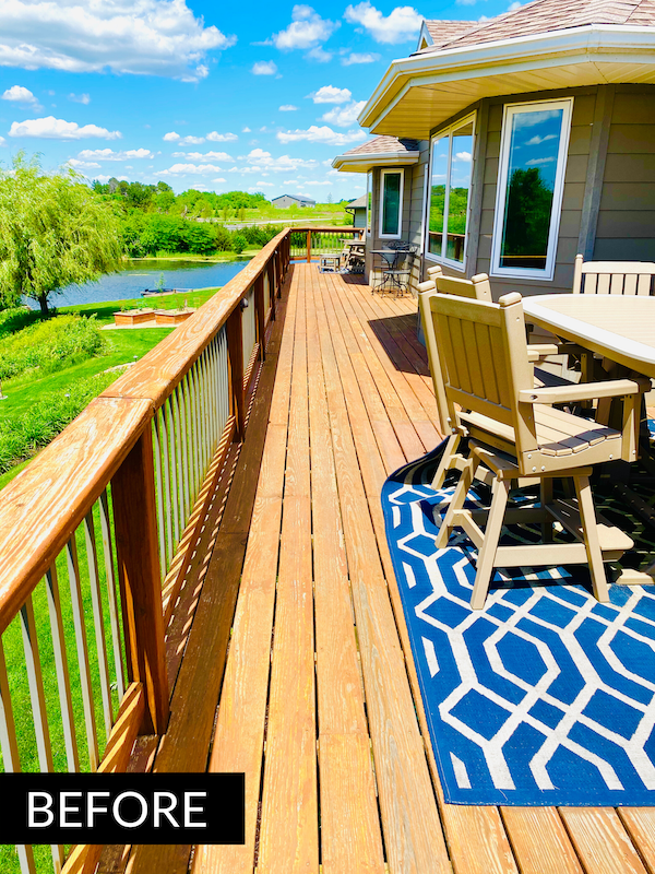 The deck before the restoration