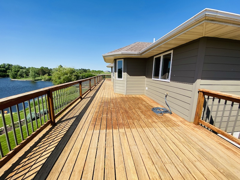Deck prepped for the first step