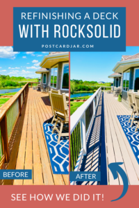 Refinishing a deck with RockSolid deck resurfacer