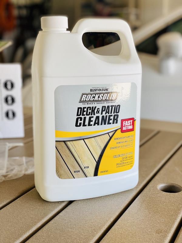 Rock Solid deck resurfacer cleaner