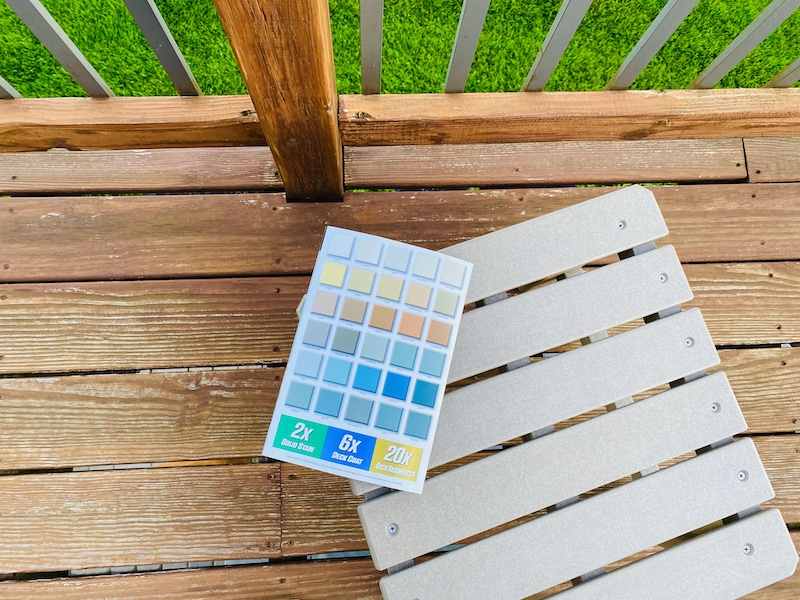 Rock Solid deck resurfacer color choices