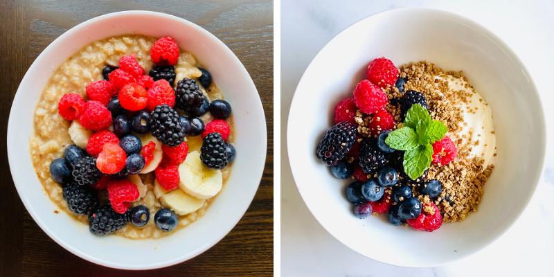 mixed berries for breakfast
