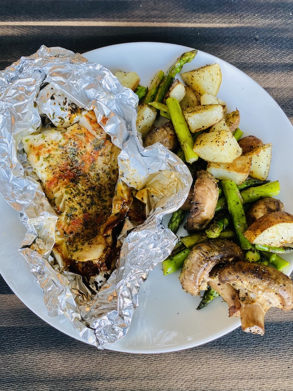 grilled cod or tilapia