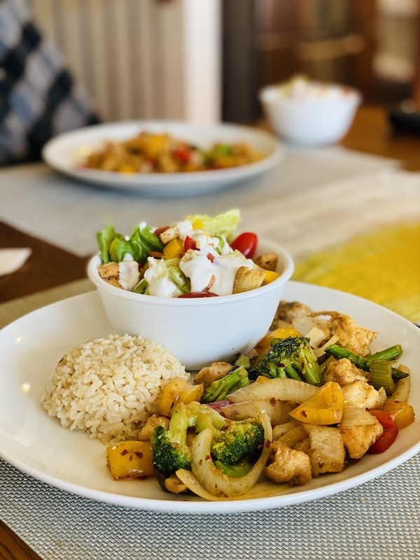 foods to help you lose weight with noom stir fry with brown rice