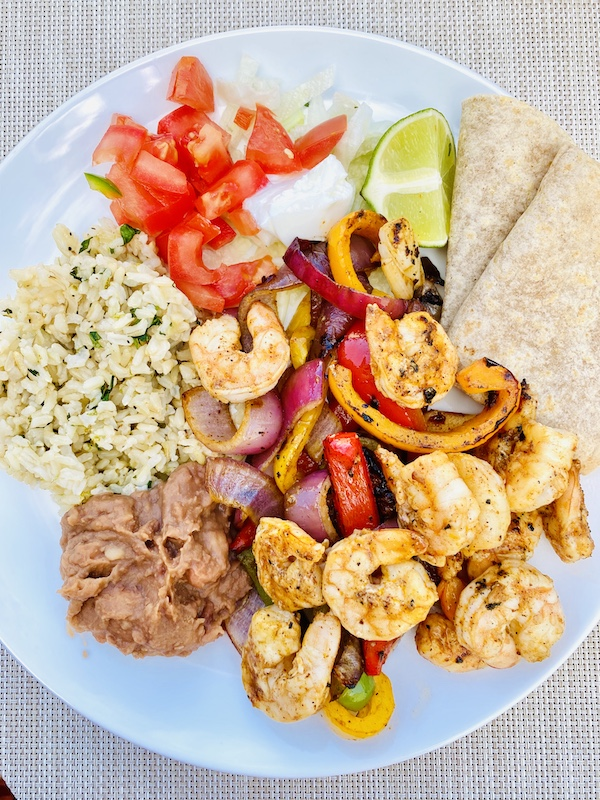 foods to help you lose weight with noom shrimp fajita