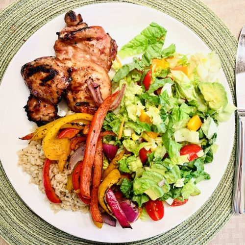 foods to help you lose weight with noom grilled chicken dinner