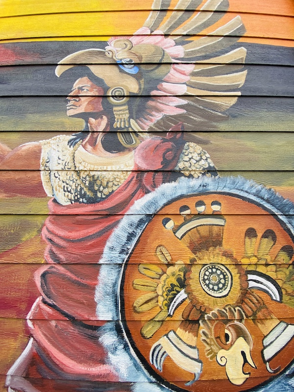 Native American mural in Wichita