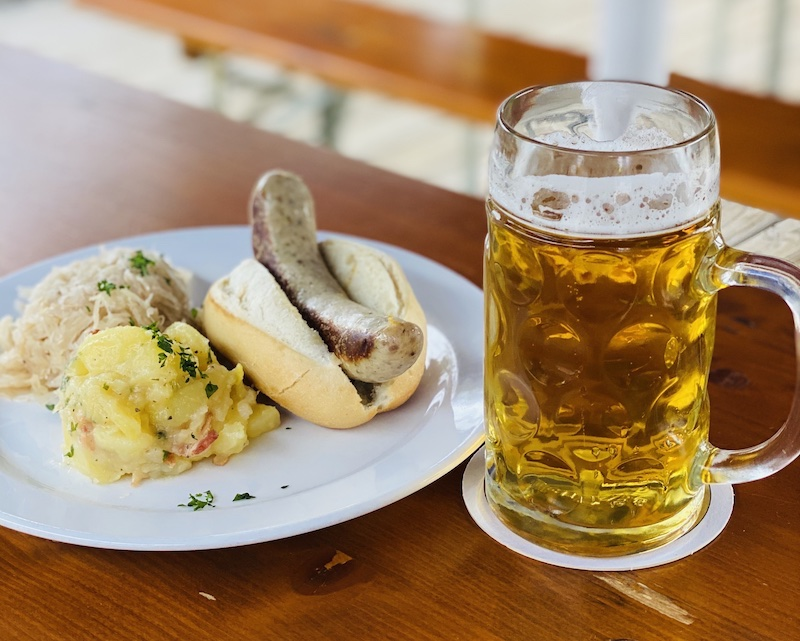 Sausage and beer at Prost Wichita
