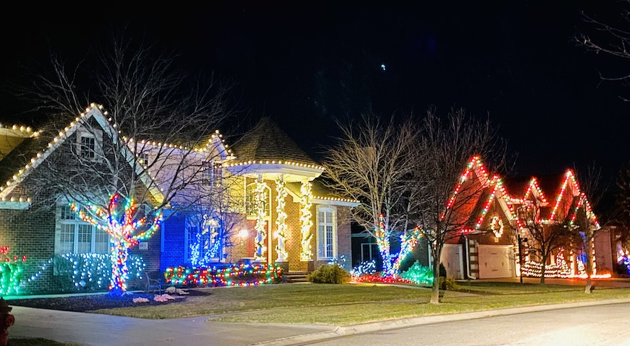 holiday lights display in Lincoln