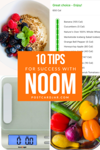 Tips for noom success pin