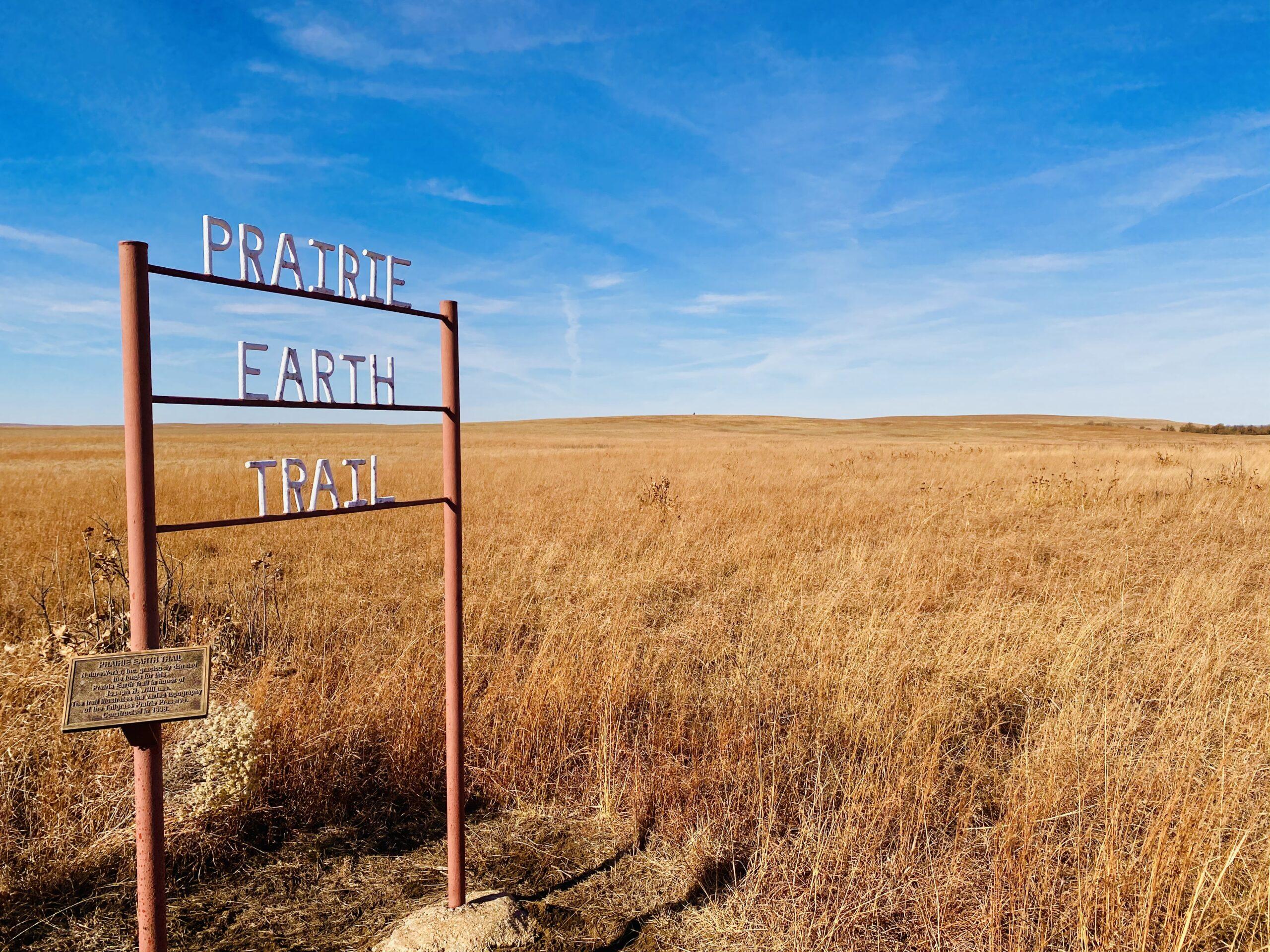 Prairie Earth Trail sign
