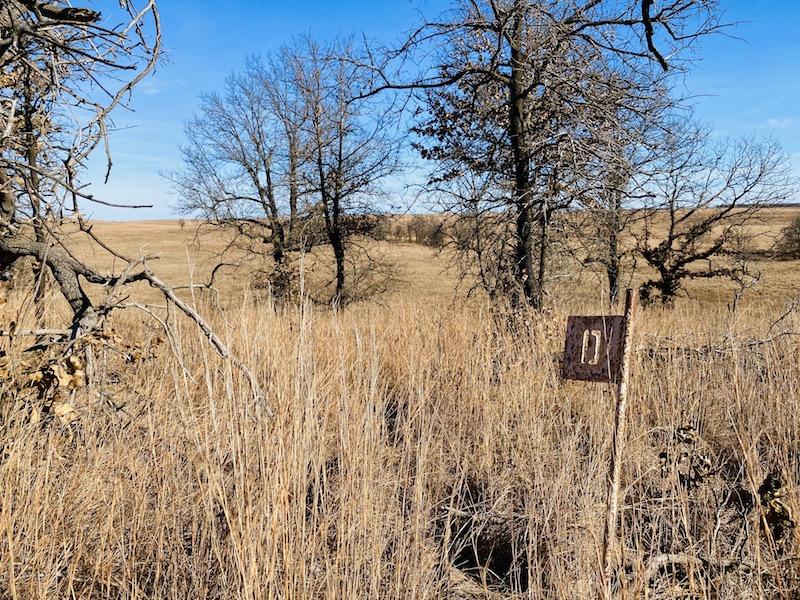 Prairie Earth trail markers tallgrass prairie preserve markers