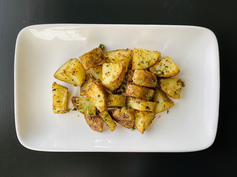 healthy ways to eat potato - oven roasted