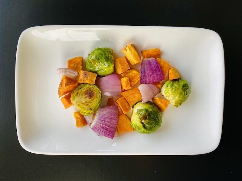 healthy ways to eat potato - sweet potato with veggies